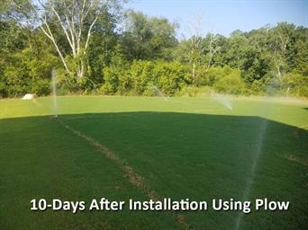 10-days after instilation using plow