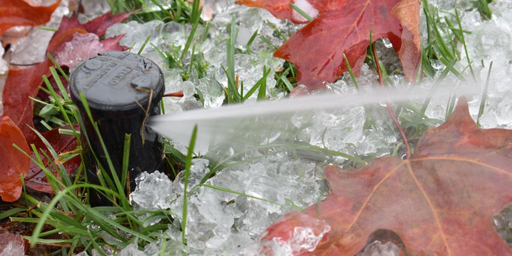 sprinkler winterization Williamsburg VA