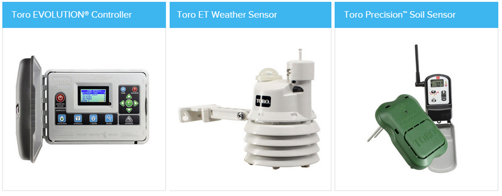 Toro EVOLUTION Controller, Toro ET Weather Sensor, Toro Precision Soil Sensor Products